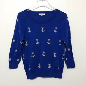Madewell Anchors and Dots Crewneck Sweater